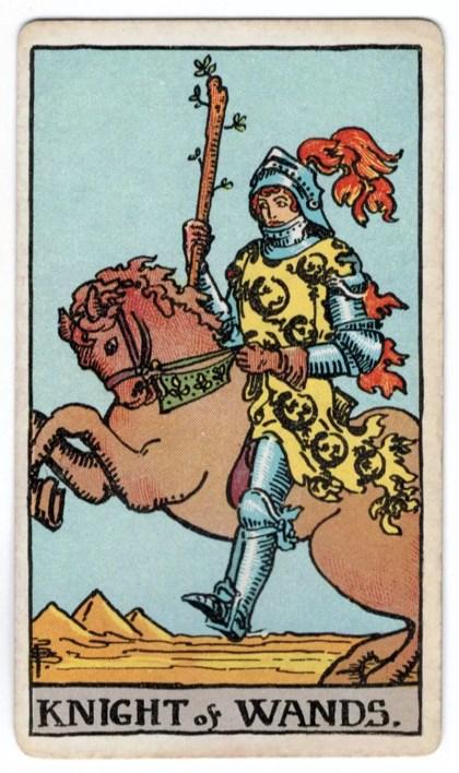 Skeptrų riteris taro korta
