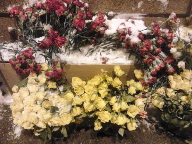 23.02.2016. Немцов Мост. Мемориал После снегопада
