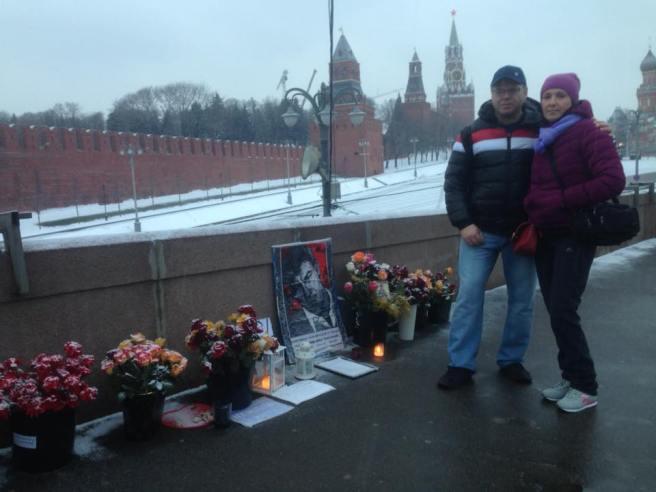 Гости Мемориала - Светлана и Виталий из Тюмени.