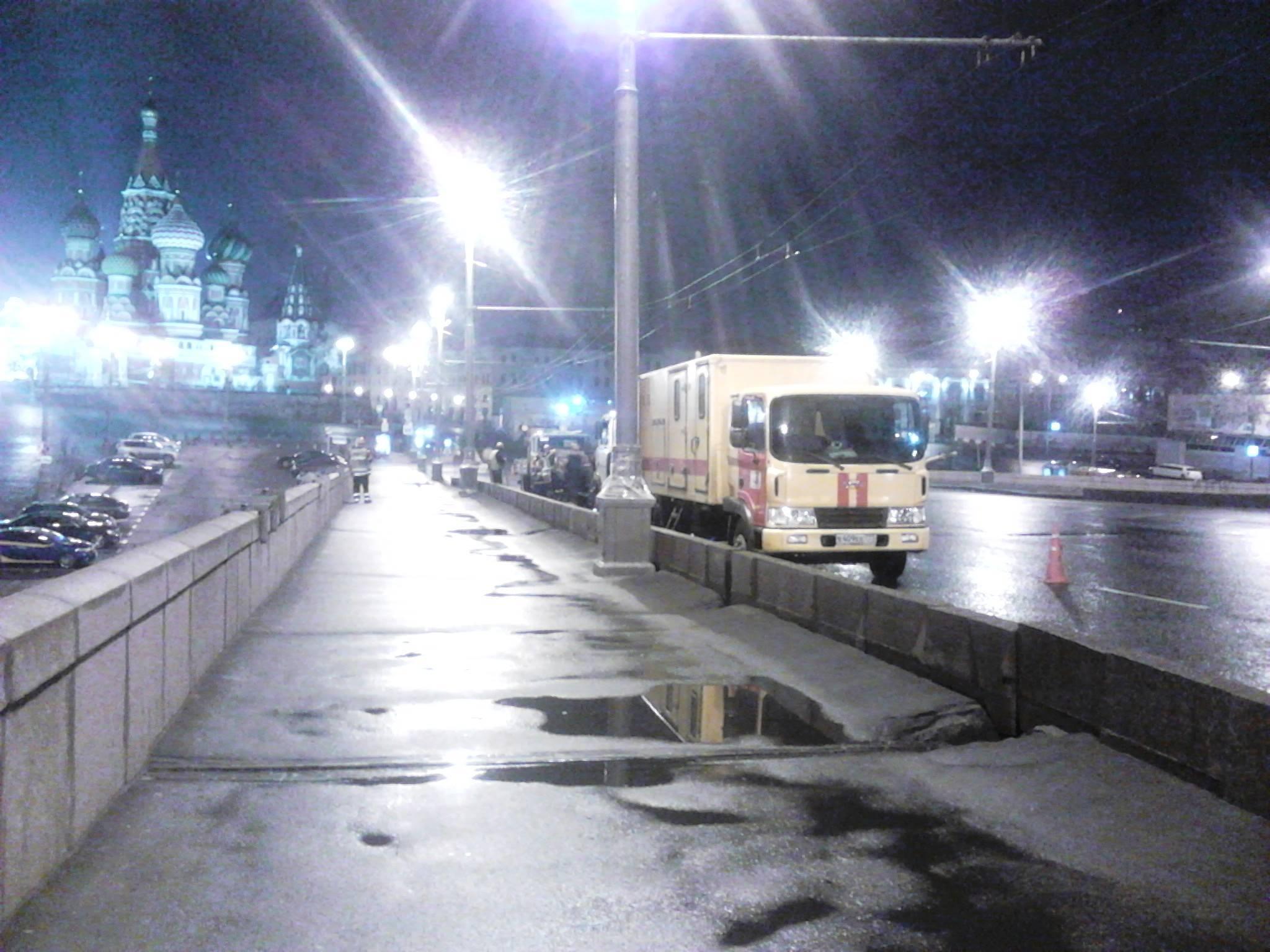 Немцов мост.Ремонтные работы