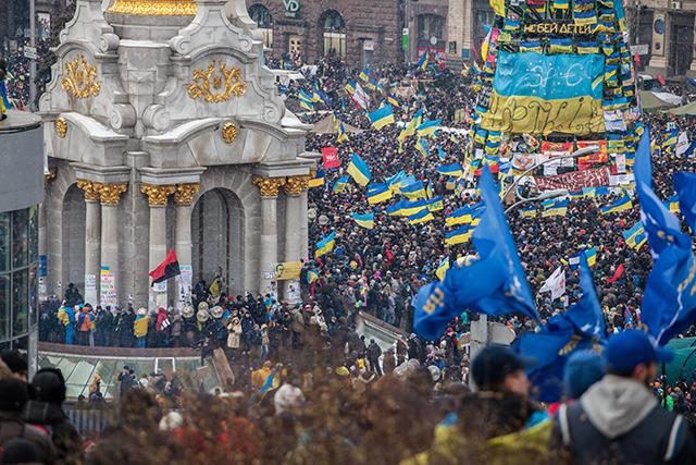 «Евромайдан». Декабрь 2013-го Фото: Максим Голубчиков / Demotix / Corbis / All Over Press