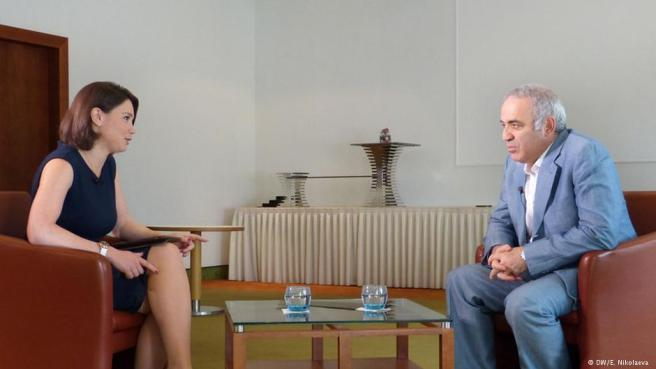 Жанна Немцова и Гарри Каспаров