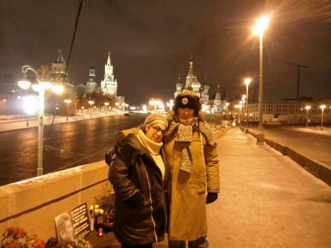 20.12.2016 Немцов мост. Я с Иваном из ночной смены.