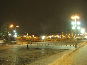 Немцов мост. 16.01.2017. Вечернее дежурство. Вид на Немцов мост
