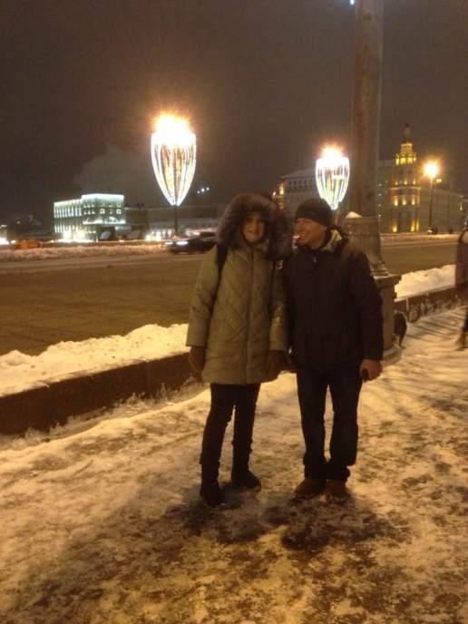 Волонтеры у мемориала Бориса Немцова 31.01.2018. Фотографии — Ирина Набатова