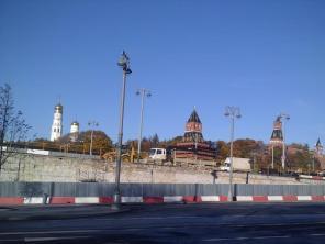 20.10.2018 Немцов мост. Ремонт. С другой стороны моста.