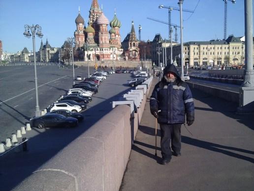 20.10.2018 Утреннее дежурство на мосту Немцова Григорий