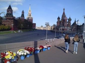 20.10.2018 Утреннее дежурство на мосту Немцова Прохожие