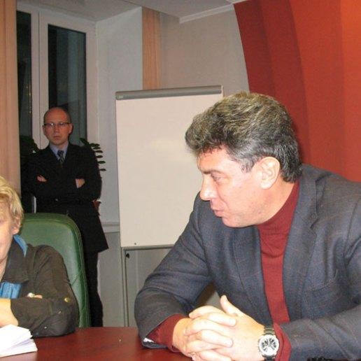 Немцов Борис в Барнауле. Фото Олег Богданов