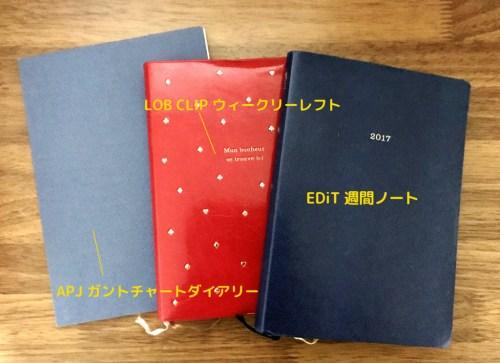 2017年に使った手帳