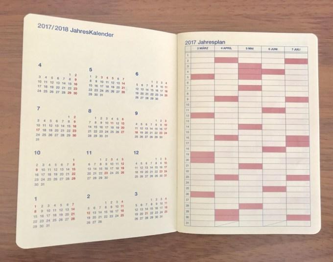ロルバーン手帳イヤリーページ