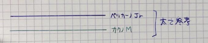 ペリカーノジュニアの線の太さ