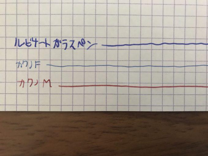 ルビナートガラスペンの実験
