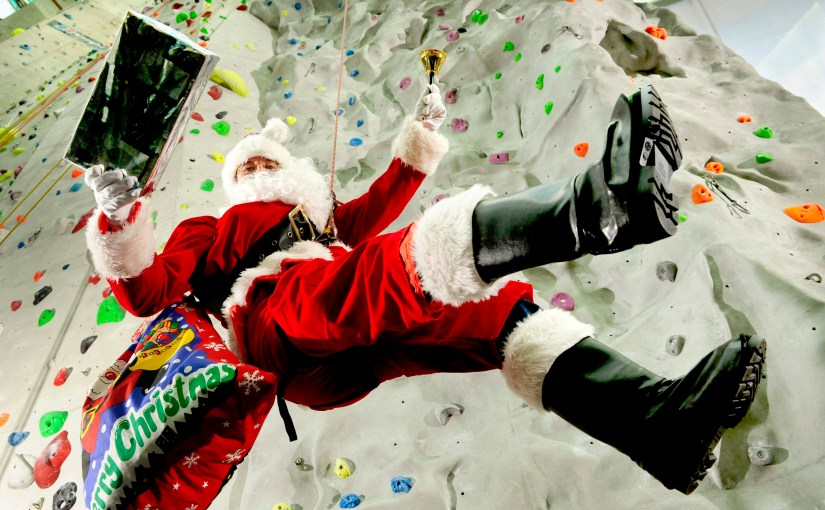 Join in the festive fun with Santa at Edinburgh Leisure and work off those mince pies