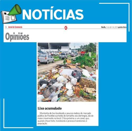 Lixo acumulado em Paulista