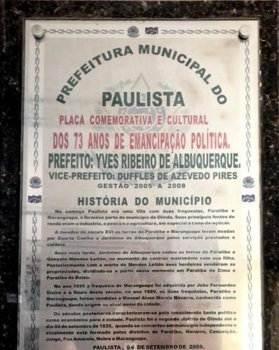 Vergonha: Prefeitura desconhece verdadeira data de emancipação de Paulista