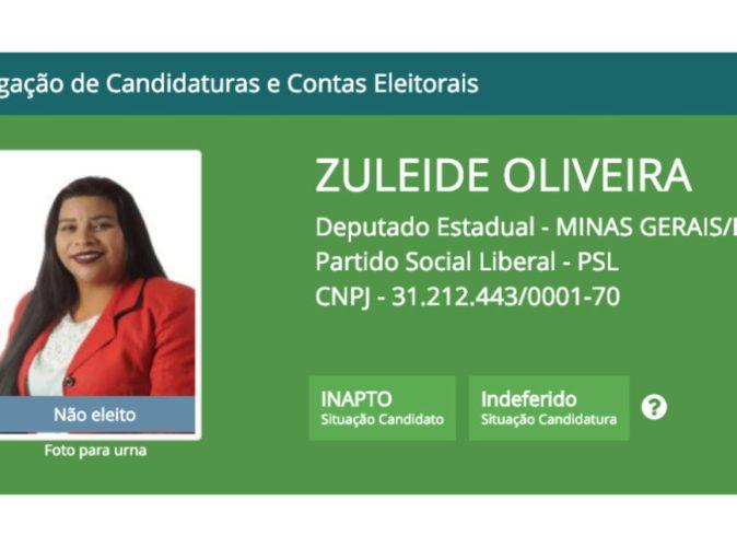 ESCLARECIMENTO: Candidata laranja do PSL confirma desvio de dinheiro em eleições, diz jornal