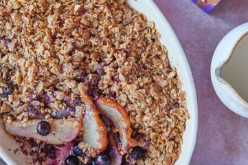 Pear, Blueberry, Ginger & Barley Crumble