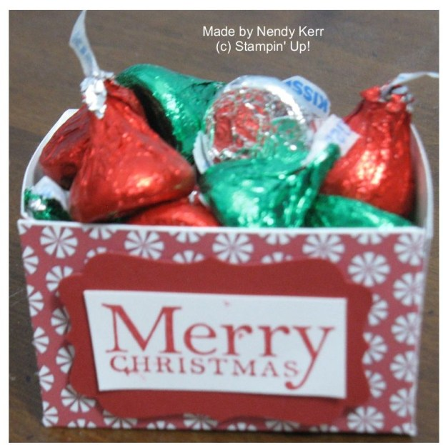 Merry Christmas chocolate gift