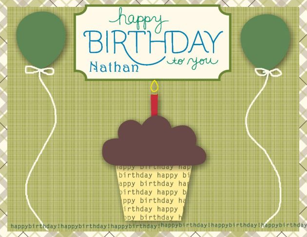 Nathan 2012 MDS Birthday card-Personalized