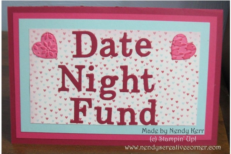 Date Night Fund Gift Card Holder