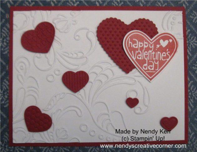 Elegant Hearts Valentine Card