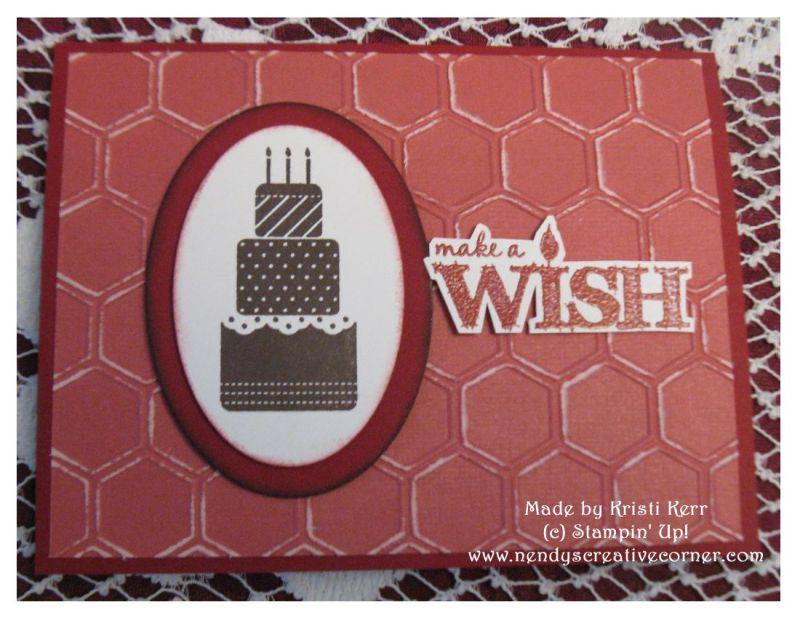 Make a Wish Honeycomb Birthday Card