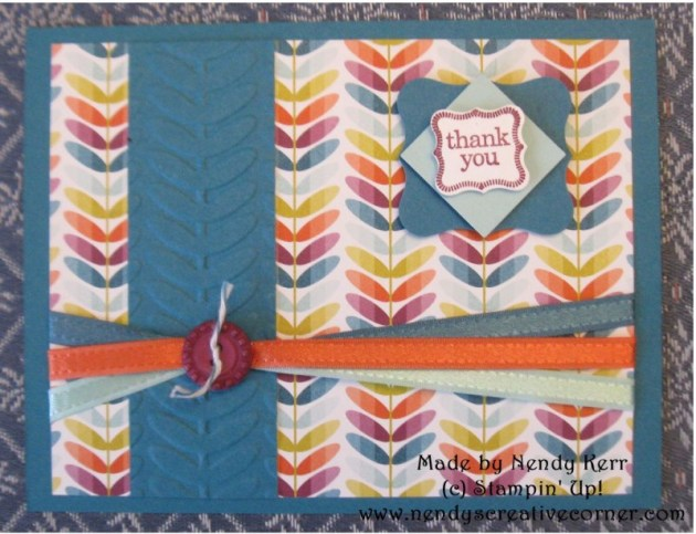 Sale-a-bration Card with Ribbons