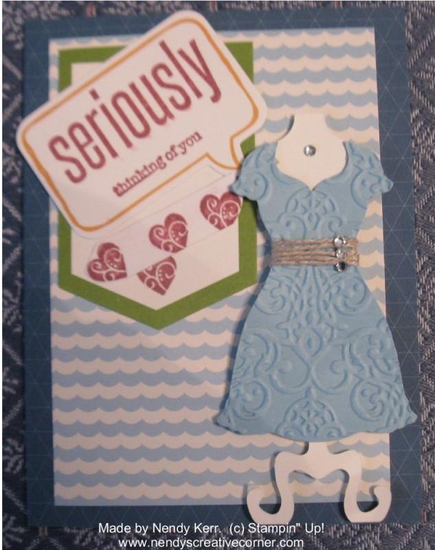 April 2013 Paper Pumpkin-Dress Card