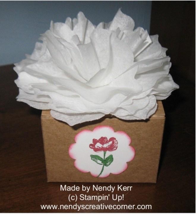 Flower Box: Creped Filter Paper meets Floral Frames Framelits