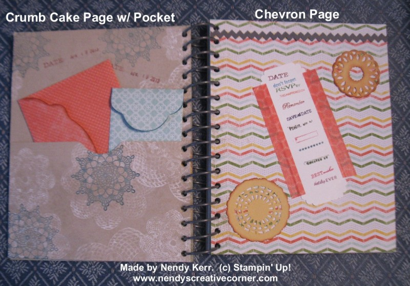 This & That Journal-Crumb Cake Page w/ Pocket & Chevron Page