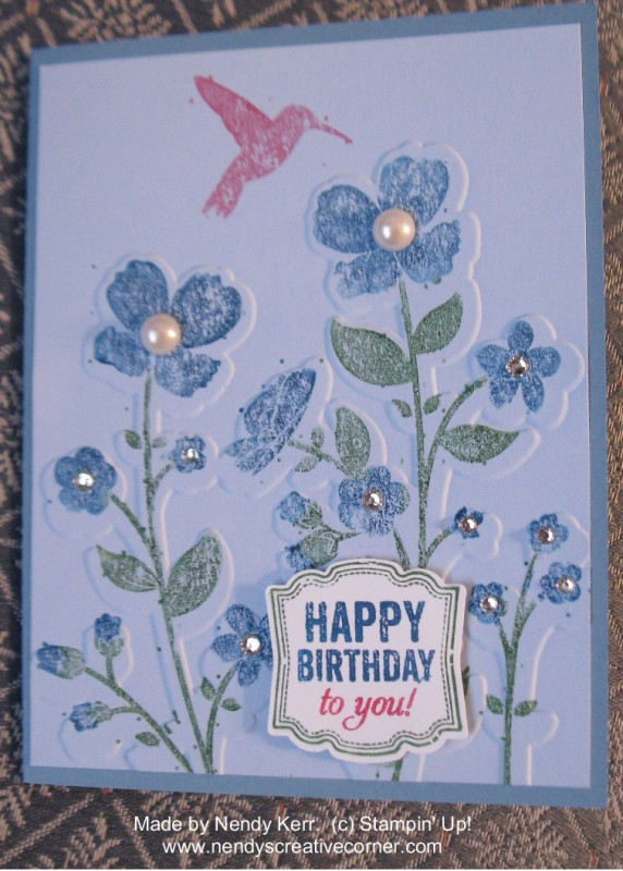 Wildflower Meadow and Label Love Card