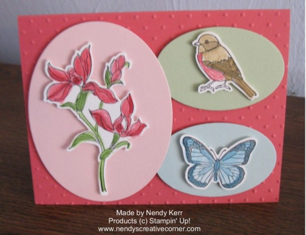 Flower, Butterfly, and Bird Card made with the Backyard Basics Bundle