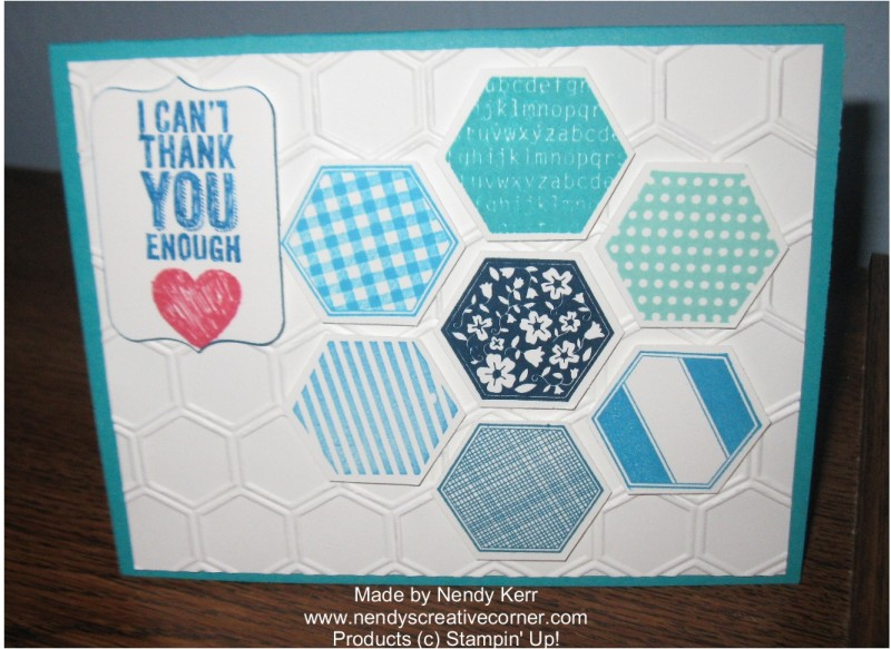 Hexagon and Six-Sided Sampler Card