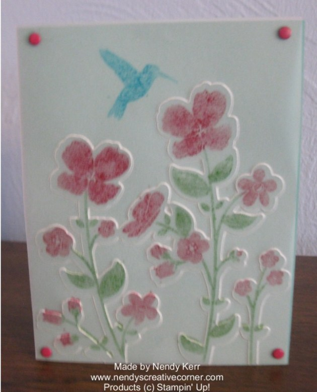 Wildflower Meadow Card with Vellum