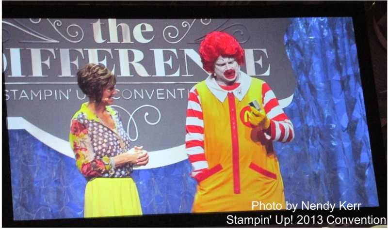Stampin' Up! 2013 Convention. CEO Shelli Gardner with Ronald McDonald