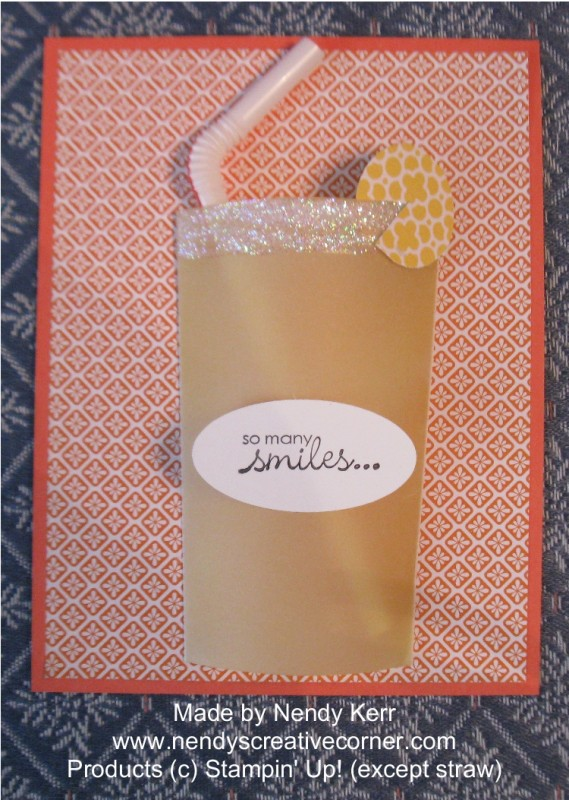 Glass of Lemonade Card