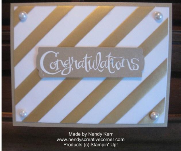 Elegant Gold Fancy Foil Vellum Card