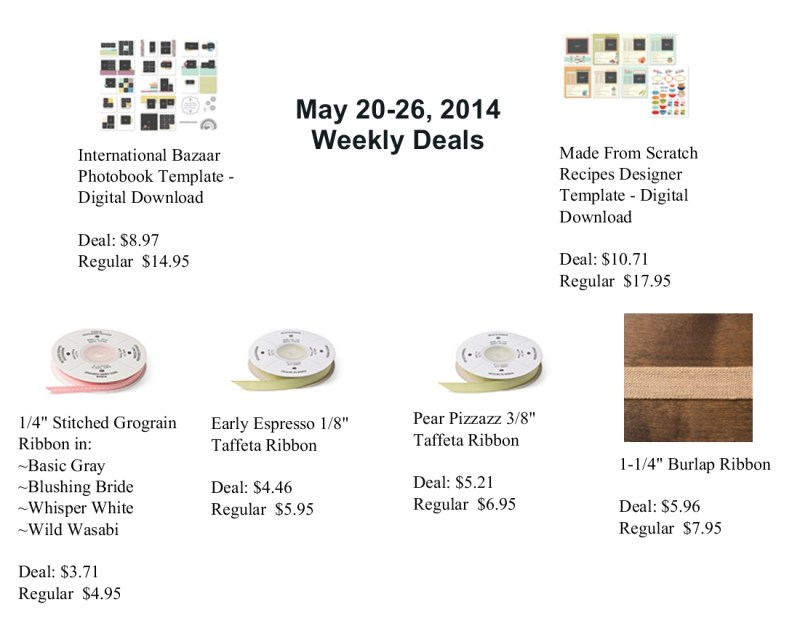 Weekly Deals May 20-26, 2014