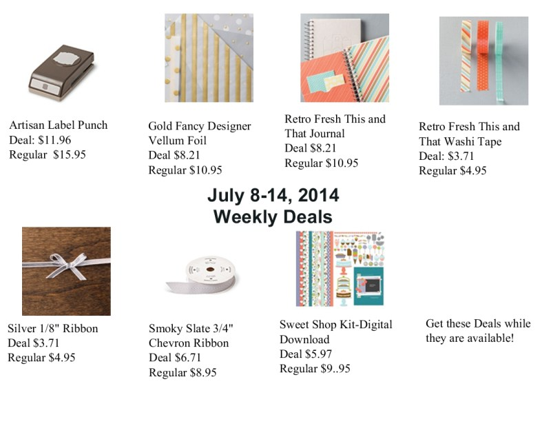 July 8, 2014 Weekly Deals