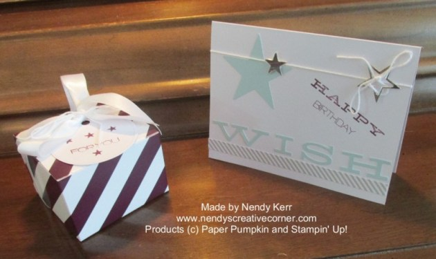 July 2014 Paper Pumpkin Card & gift box