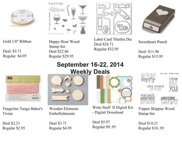 Weekly Deals September 16-22, 2014