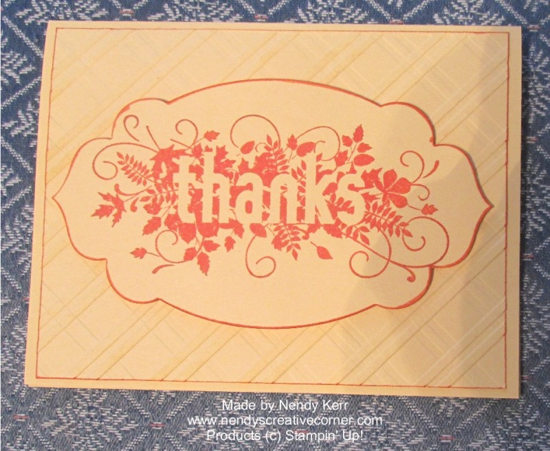 Scattered Thanks Card