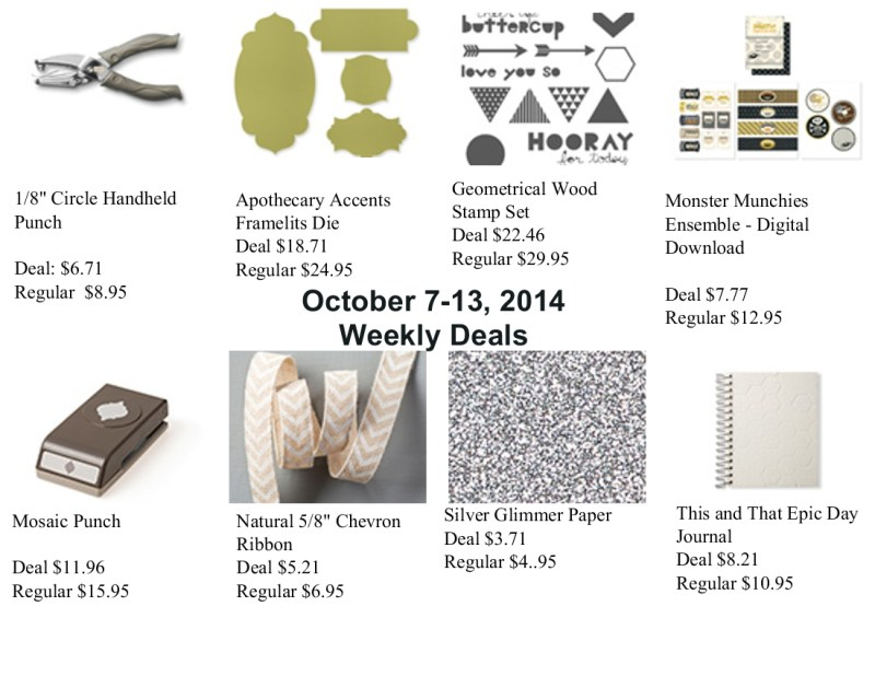 Weekly Deals Oct 7-13, 2014