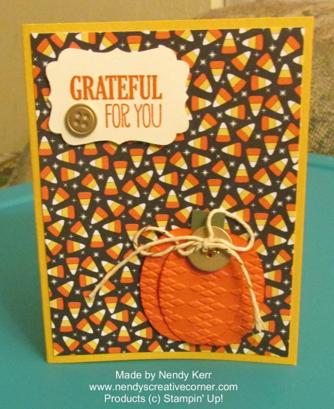 Punch Art Pumpkin Card