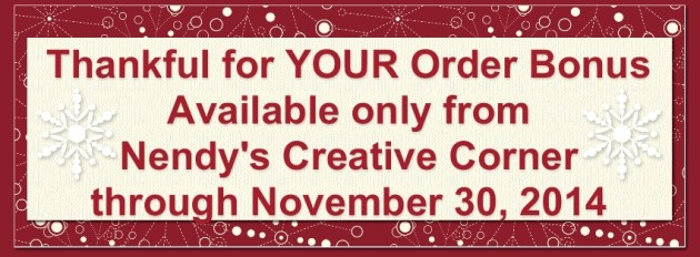Thankful for YOUR Order!