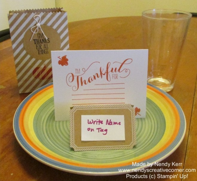 Thanksgiving Table Place Settings