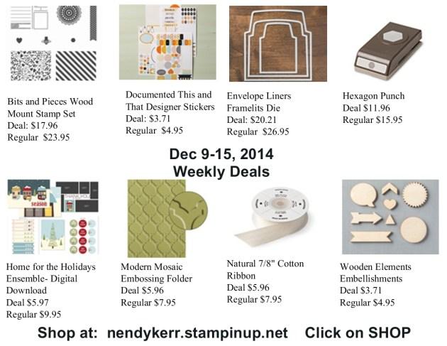 Weekly Deals December 9-15, 2014