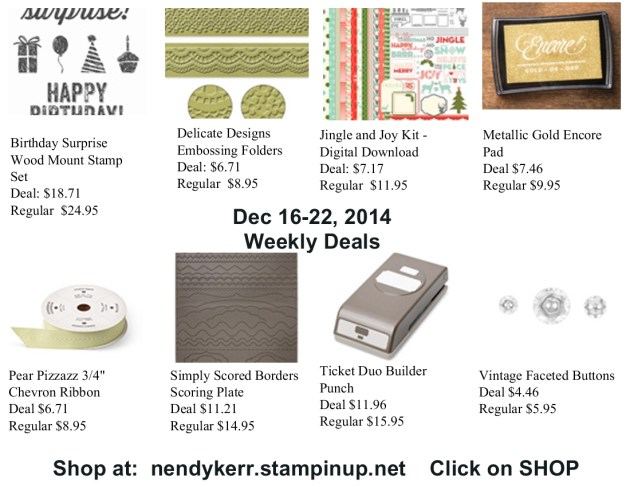 Weekly Deals December 16-22, 2014