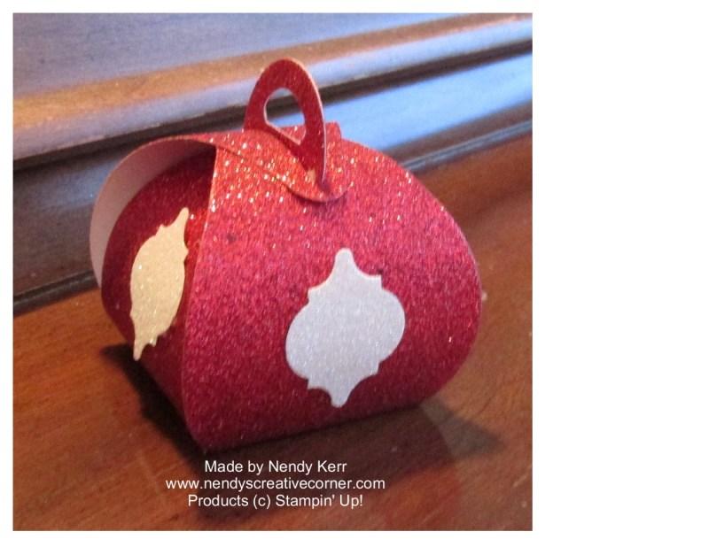 Curvy Box Christmas Ornament